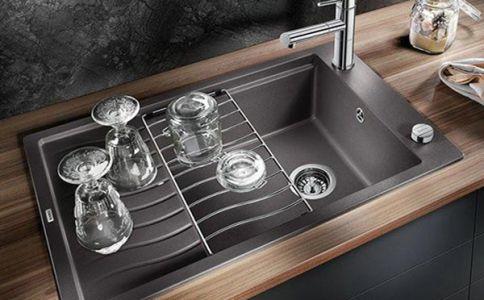 Керамическая мойка с подставкой под посуду
