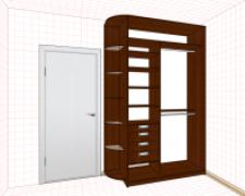 Создаем дизайн проект шкафа купе: размеры, наполнение, программы; скачайте схему шкафа