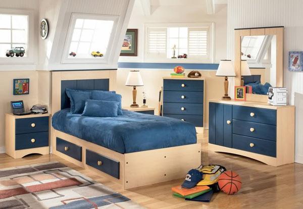 Функциаональная мебель в комнату для мальчика