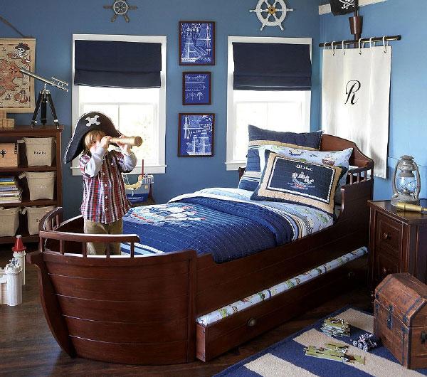 Дизайн комнаты для мальчика Морской стиль