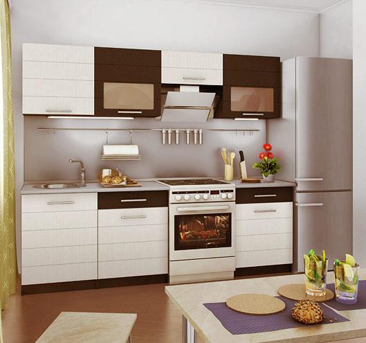Компактный кухонный гарнитур эконом-класса