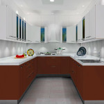 П-образная модульная кухня