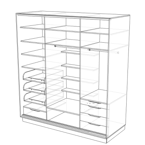 Шкафы купе размеры схема 31