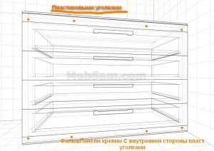 Установка фальш панелей комода