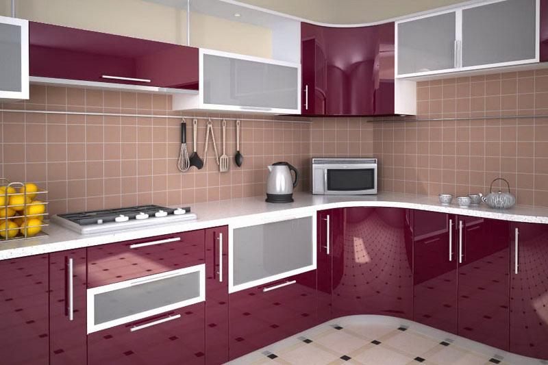 Дизайн глянцевых кухонь фото