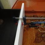 Установка мебельного фасада на выдвижной ящик