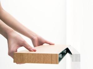 Специальный скрытый крепеж для навесных полок