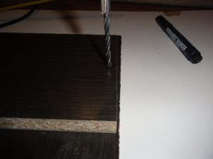 Сверление в пласти детали