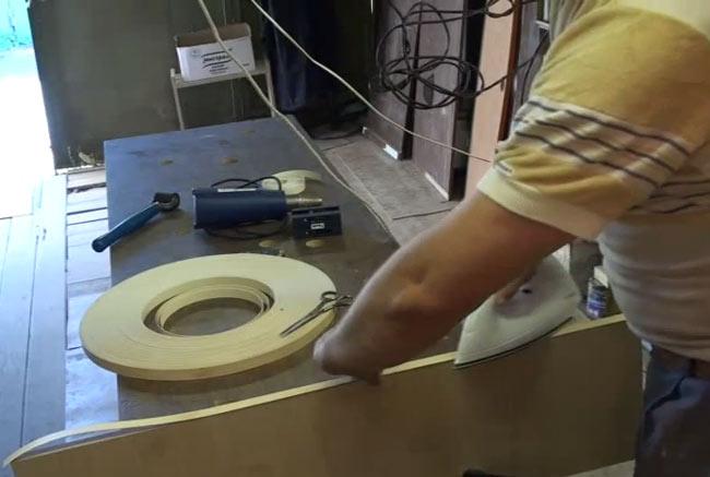 Оклейка меламиновой кромки
