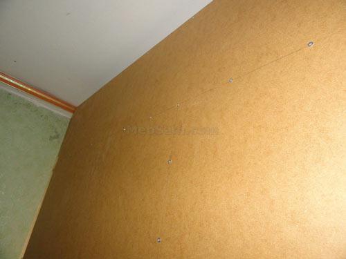 Крепление задней стенки шкафа