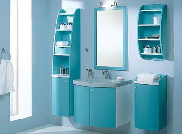 Мебель из пластика в ванной комнате