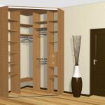 Внутреннее наполнение углового шкафа