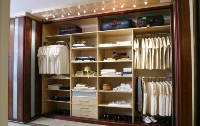 Внутренности шкафа