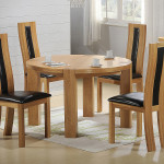 Wooden Round Small Dining Table Design Laminate Floor