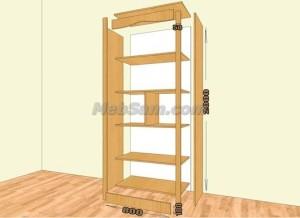Инструкция по сборке простого книжного шкафа своими руками
