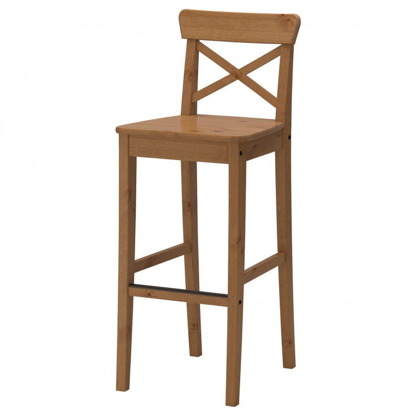 Деревянный барный стул ИКЕА
