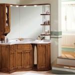 Тумбочка с зеркалом в ванную