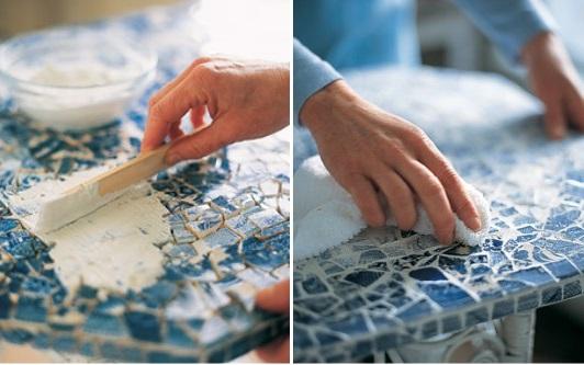 Обновление стола мозаикой