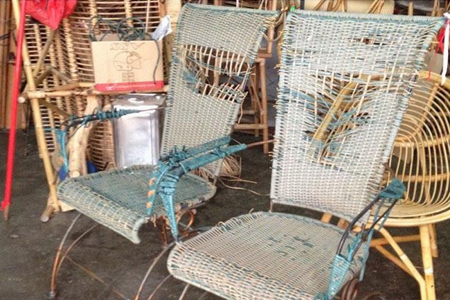 Отреставрированные плетеные стулья из ротанга 2