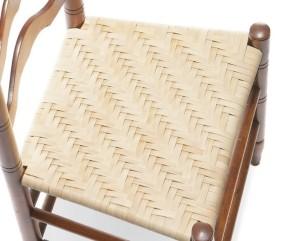 Вариант плетеного сидения из ротанга