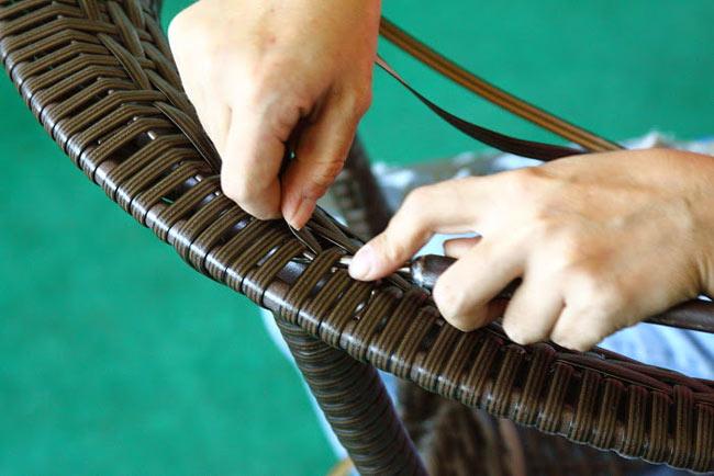 Реставрация стульев из ротанга
