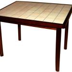 Прямоугольный стол с керамической плиткой