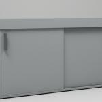 Тумба с раздвижными дверями для кухни