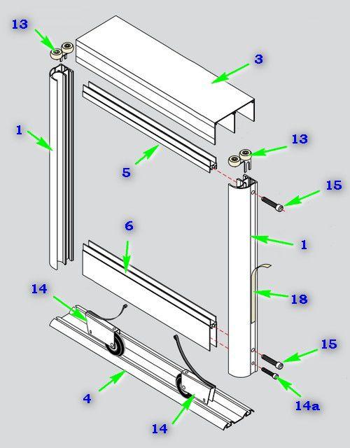 Схема раздвижной системы шкафа-купе Aristo