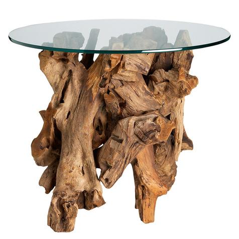 Журнальный столик из пня