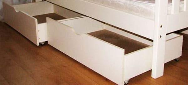Выкатной ящик под кроватью