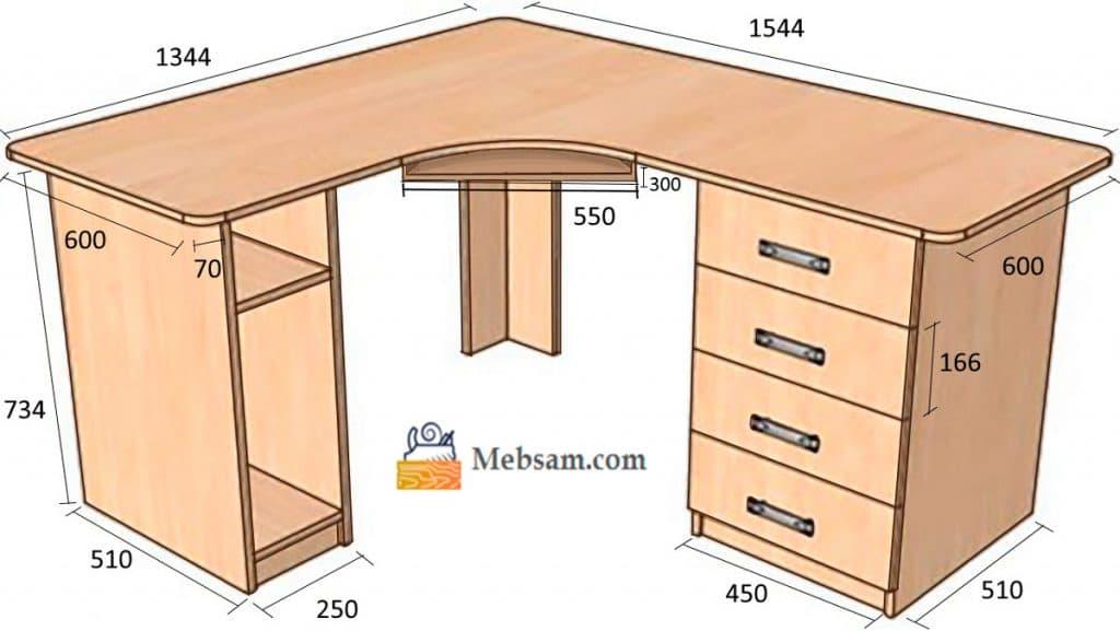 Mebsam.com - угловой стол для компьютера с размерами